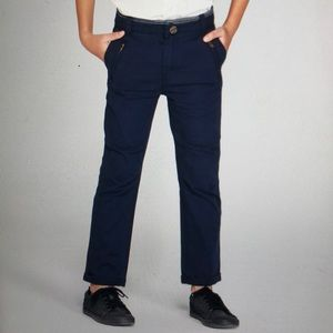 Cat&Jack Relaxed Fit Chinos. Navy Blue. Boys. Sz 6